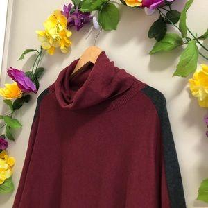 Lole Sweaters - Lole Turtleneck open side Burgundy Sweater